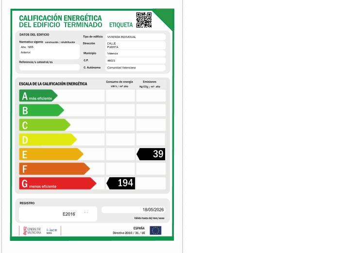 Certificado energetico valencia precio fabulous tasas boletn elctrico with certificado - Ejemplo certificado energetico piso ...