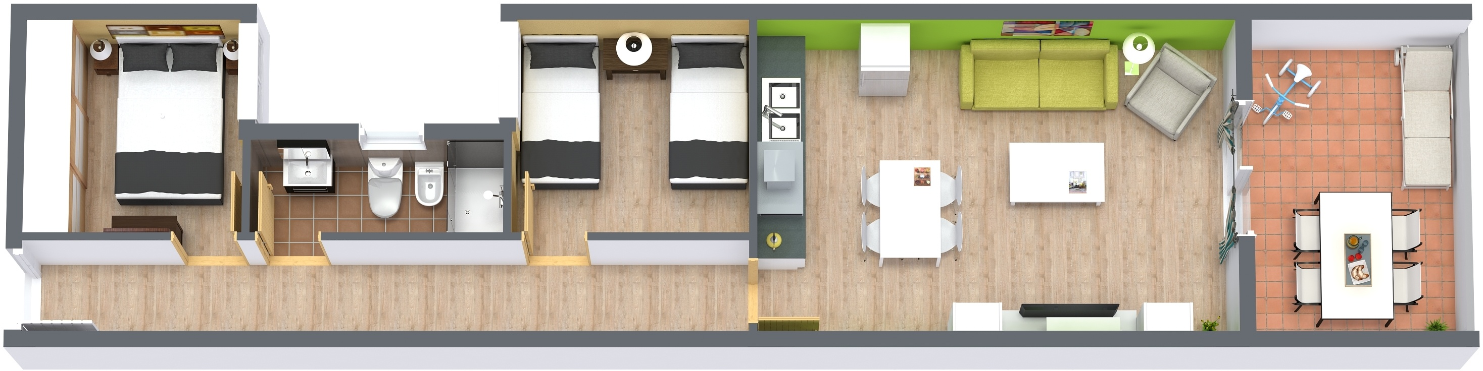 Planos 3d y renders lowcost para inmobiliaria fotograf a for Planos de cocinas 3d